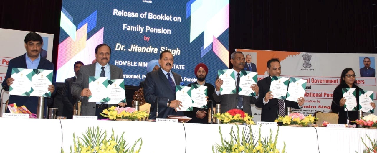 Release of Booklet on Family Pension by Dr. Jitendra Singh, MOS in Jammu