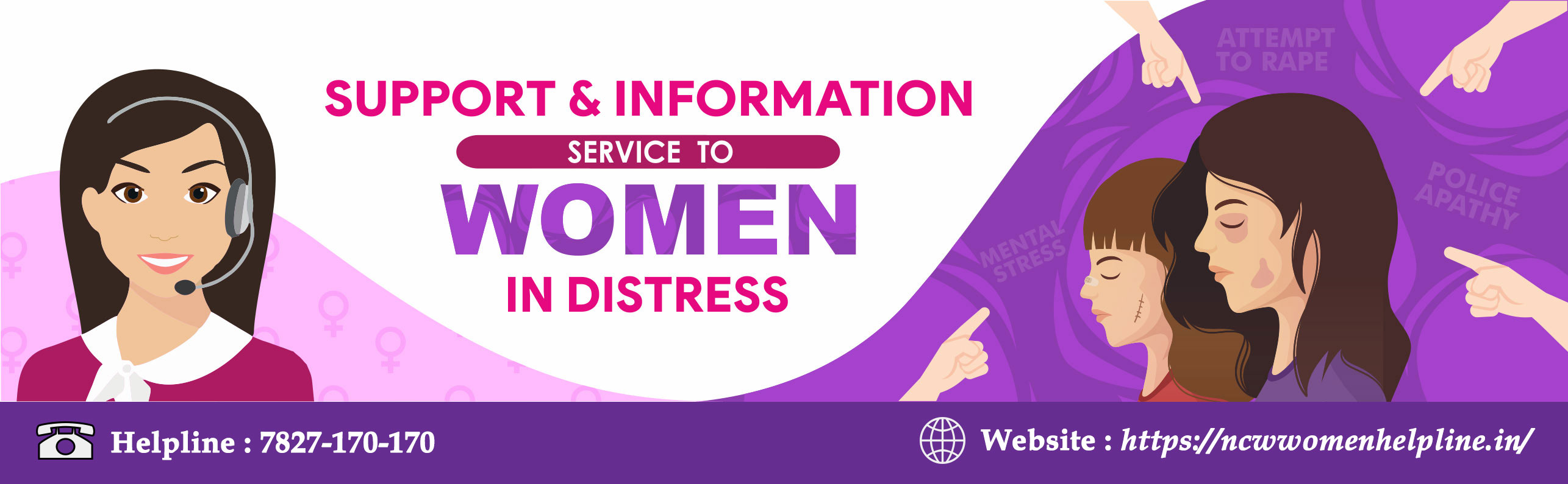Support and Information service to woman in distress