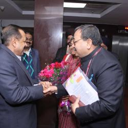 Arrival of Dr. Jitendra Singh, Hon'ble Minister of State with Sh. Alok Rawat, Secretary (Pension)