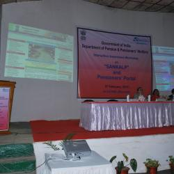 Mrs. Tripti P Ghosh, Director (Pension) Addressing the Pensioners