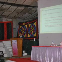 श्री अनिल बंसल , एनआईसी पेंशनरों को संबोधित करते