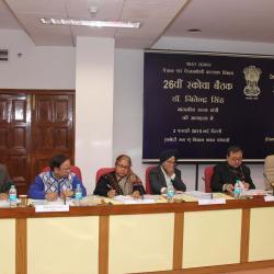 डॉ जितेंद्र सिंह, माननीय राज्य मंत्री(दाएं) और श्री आलोक रावत, सचिव (पेंशन) (दाएं से दूसरे) एससीओवीए पर विभागों के अधिकारियों के साथ