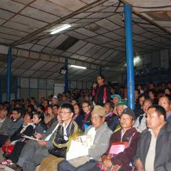Pensioners attending the Awareness Programme at Aizwal under the Chairmanship of Sh. Alok Rawat, Secretary (Pension)