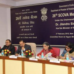 Dr. Jitendra Singh, Hon'ble Minister of State addressing the member of SCOVA